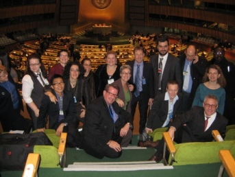 Part of the LGBT delegation at the UN, New York Dec 2008