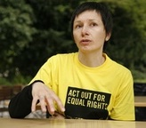 Mihaela Copot from Amnesty International Moldova / Moldau at Europride 2009