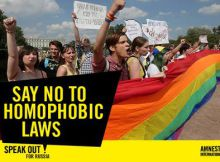 say no to homophobic laws
