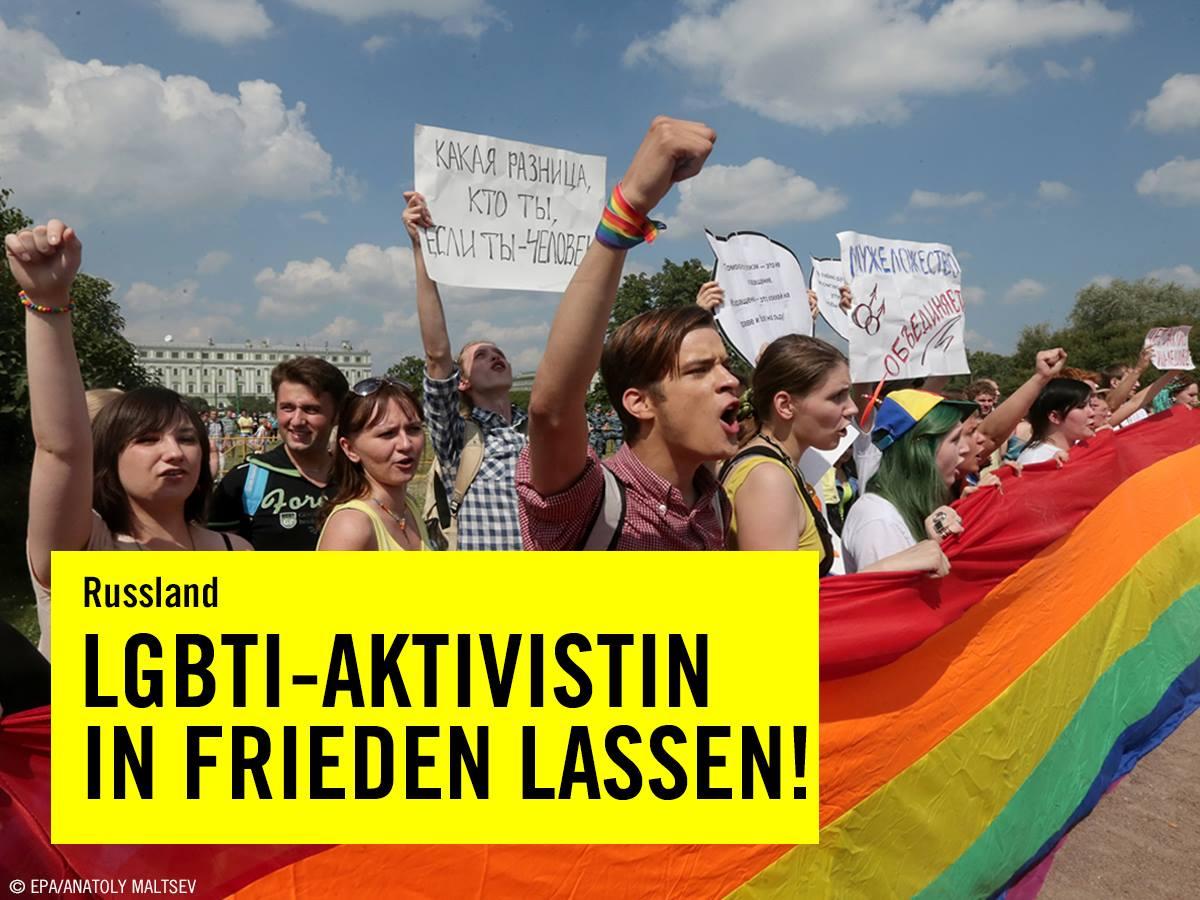 LGBTI-Ktivisten in frieden lassen
